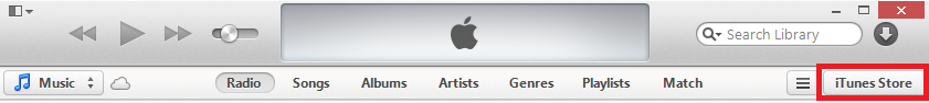iTunes Store Button