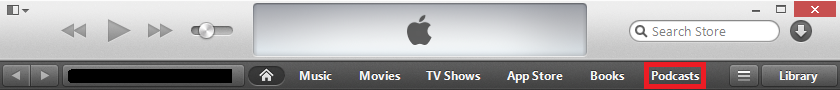 iTunes Podcasts Button