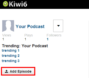 Add Episode Button